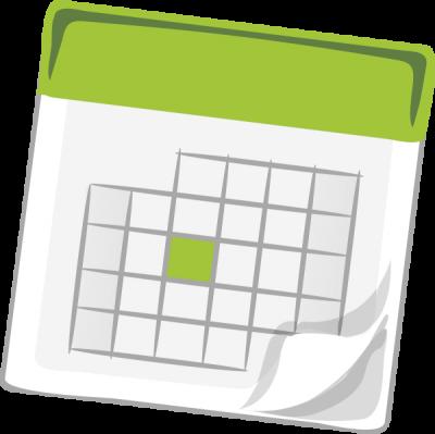 Calendar graphic for site